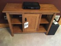 Oak Entertainment stand, no contents included, 42 inches wide
