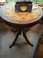 Claw Foot Lamp Table, with doily included