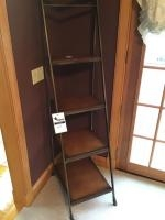Jacob's Ladder type metal shelf, 70 inches tall