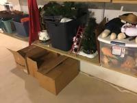 Shelf Cleanoff, includes Christmas Decor, fall decor, and more
