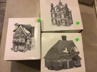 Assorted Heritage Village Series Dept 56 lighted Christmas Houses, see full description