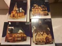 Assorted Dicken's Village Series Dept 56 lighted Christmas Houses, see full description