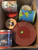 Assorted decorative tins