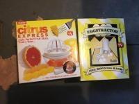 Citrus Express Juicer and Eggstractor egg slicer