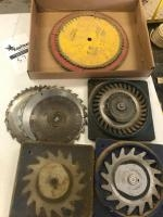 Lot of assorted saw and dado blades