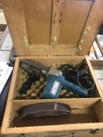 Makita 1 x 21 inch belt sander with custom wood box