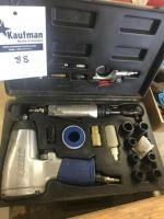 Excell Pneumatic Impact and ratchet set with case