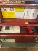 Red Head Powder Actuated tool, with case and misc accessories