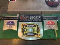 Coors Light Super Bowl XXXVIII Neon/lighted sign, AFC/NFC, Non working
