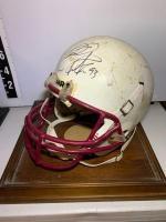 Mike Rucker / Benton High school Signed football helmet in case