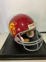 Pete Carroll signed USC Trojans helmet with case.