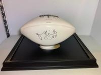Signed Football - Signature unknown in case