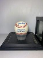 Autographed baseball, Name unknown in case