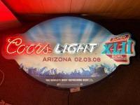 Coors Light Super Bowl XLII Neon sign