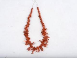 "17"" raw coral necklace--no clasp"