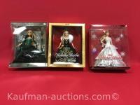 2004, 2006 & 2008 Holiday Barbie dolls
