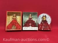 2014, 2015 & 2016 Holiday Barbie dolls