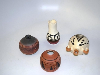 """Hand thrown Native American pottery """"beaver""""- signed"""