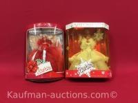 1988 & 1989 Holiday Barbie dolls