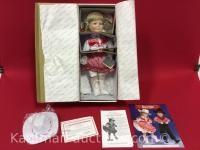 The Danbury Mint Country line dancer porcelain doll