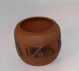 Native American terra cotta pottery signed