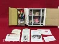 The Danbury Mint, Jimmy & Norman Rockwell's little girl and her doll porcelain dolls