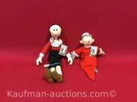 Sweet Pea & Olive Oyl Popeye Dolls