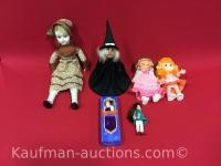 6 misc Dolls / tallest one is Porcelain