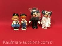 Applause Mickey & Minnie Mouse & 2 other Dolls