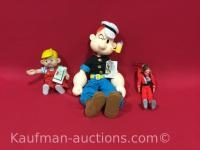 Presents Dennis & Popeye Dolls & Robin Williams doll