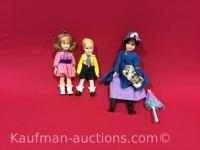 Vintage Mary Poppins & 2 horsman Dolls
