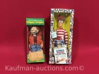1990 Happy Camper & 1991 Where's Waldo Dolls