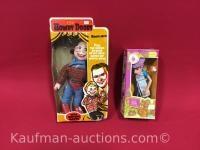 1981 purple pieman figure & Howdy Doody Doll
