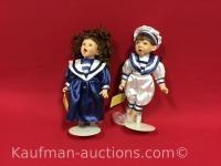 2 Premier Dolls Porcelain Dolls