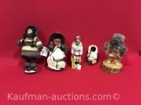 Dada Yazzi figure & Eskimo Dolls