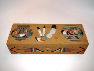 "Pair of Navajo pottery wall pockets - 7 1/2"" tall"