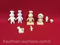 1971, 1972 & 1974 pillsbury dough co Figurines