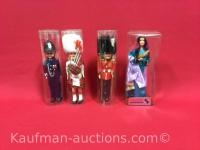 Hand made Isradol doll, & 3 other foreign Dolls