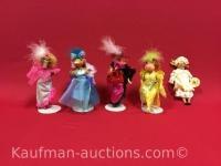 5 misc Dolls / includes 1 Porcelain