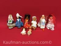 8 misc Dolls / includes Ginny Dolls