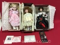 3 Knowles Porcelain Dolls / Meagan, Amber and the glamour of the Gibson girl