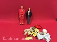 The six million dollar man & Ken w/ Clothes Dolls
