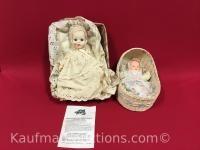 1971 Tiny Tears & 1 baby w/ crib Dolls