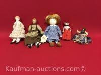 5 misc Dolls / includes Der Hammer und Nagel Doll