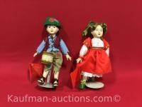 2 Hallmark Porcelain Dolls
