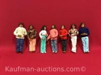 7 handmade Dolls / Howell family