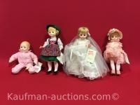 4 Madame Alexander Dolls