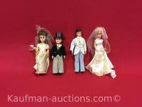 2 sets Bride & Groom