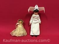 Antique storybook doll and flying nun (tv show) doll