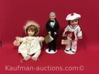 1979, 1981 & George burns effanbee dolls